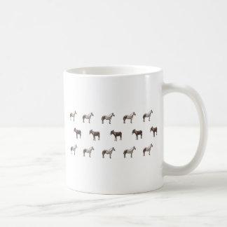 エマJanewayの農場構内の馬およびラバの蝋燭セット コーヒーマグカップ