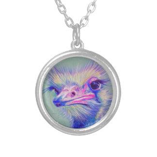 エミューの鳥 シルバープレートネックレス