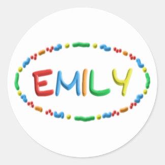 エミリーのこね粉のおもしろい ラウンドシール