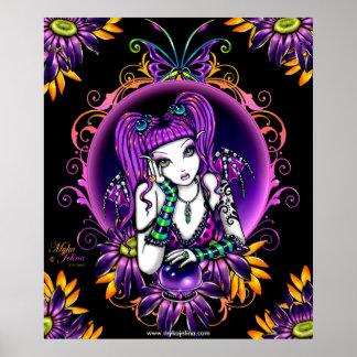 エミリーのクリスタル・ボールの花の虹の妖精ポスター ポスター