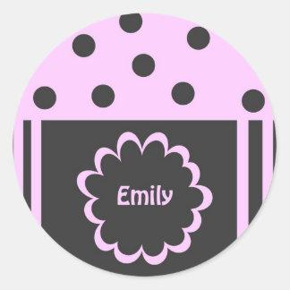 エミリーのステッカー ラウンドシール