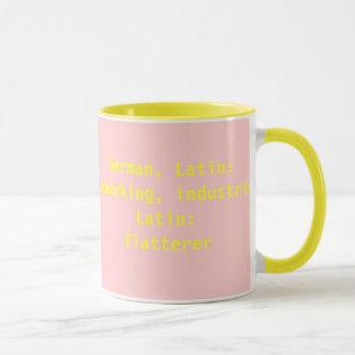 エミリーの意味および名前の起源のマグ マグカップ