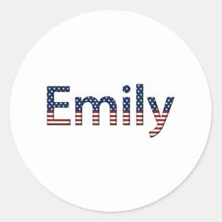 エミリーの星条旗 ラウンドシール