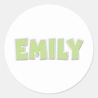 エミリーの緑のPopout ラウンドシール