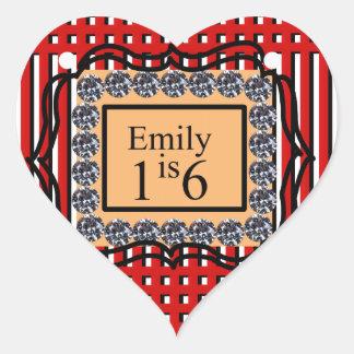 エミリーは16_sweet_diamond_monogram_red_designです ハートシール