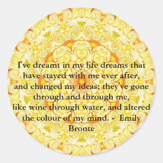 エミリー感動的なBronteの引用語句 ラウンドシール