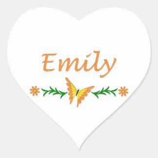 エミリー(オレンジ蝶) ハートシール