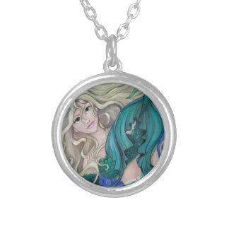"""""""エメラルドの人魚""""のファンタジーの妖精の芸術のネックレス シルバープレートネックレス"""