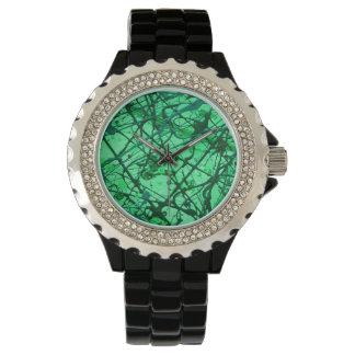 エメラルドの夢の垂直(抽象美術のデザイン) ~. 腕時計