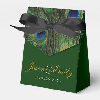 エメラルドの孔雀の結婚式 フェイバーボックス
