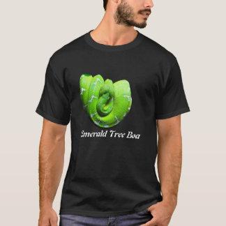 エメラルドの木のボアの基本的な暗いTシャツ Tシャツ