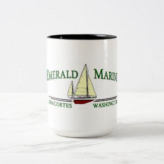 エメラルドの海洋のコーヒー・マグ ツートーンマグカップ