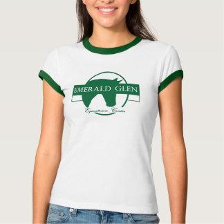 エメラルドの谷間の緑の信号器T Tシャツ