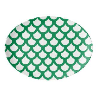 エメラルドの魚スケール1 磁器大皿