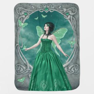 エメラルドのBirthstoneの妖精のベビーブランケット ベビー ブランケット