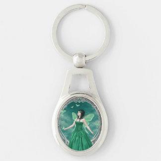 エメラルドのBirthstone妖精の楕円形のKeychain キーホルダー