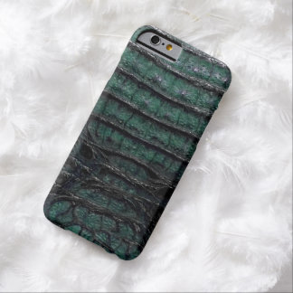 エメラルドグリーンのわにプリント BARELY THERE iPhone 6 ケース