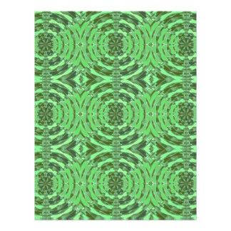 エメラルドグリーンのダイヤモンドのグラフィック レターヘッド