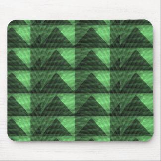 エメラルドグリーンのピラミッドの三角形Deco LOWPRICES マウスパッド