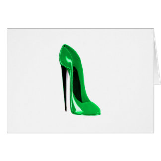 エメラルドグリーンの小剣の靴 カード