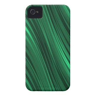 エメラルドグリーンの影で覆われたストライブ柄 Case-Mate iPhone 4 ケース