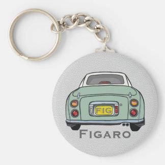 エメラルドグリーンの日産・フィガロのカスタムのキーホルダー キーホルダー