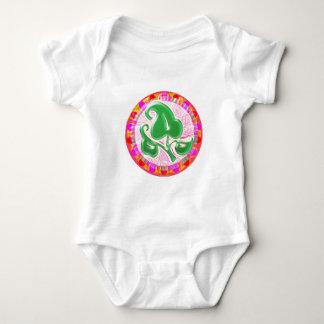 エメラルドグリーンの葉の宝石 ベビーボディスーツ