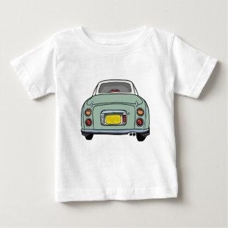 エメラルドグリーンのFigaro車のTシャツ ベビーTシャツ