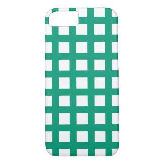 エメラルドグリーンのiPhone 7つのケース-格子点検 iPhone 8/7ケース