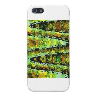 エメラルドグリーンショー-波、輝きnのパノラマ iPhone 5 ケース