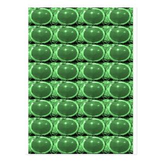 エメラルドグリーン低価格水晶石造りエネルギーギフト ポストカード