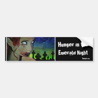 「エメラルド夜の空腹」(Zombのバンパーステッカー バンパーステッカー