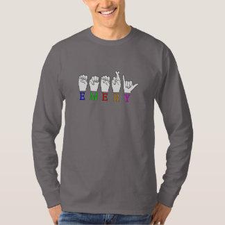 エメリーASL FINGERSPELLEDの一流の印 Tシャツ