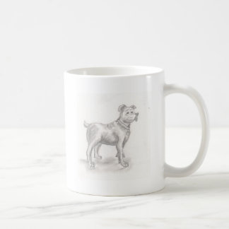 エリアナを引いている犬 コーヒーマグカップ