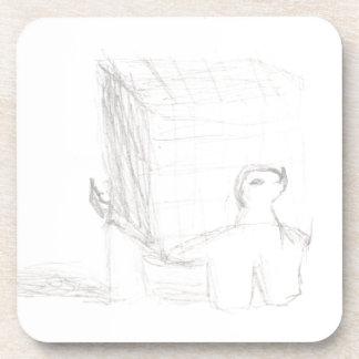 エリアナを引くアメリカハコガメの立方体 コースター