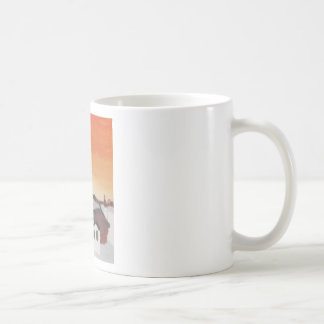 エリアナを引く納屋の農場の家の太陽の日没 コーヒーマグカップ