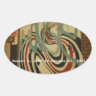 エリオット・スミスの記念物の壁 楕円形シール