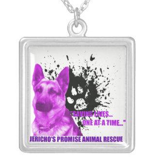 エリコの約束の動物の救助のネックレス シルバープレートネックレス