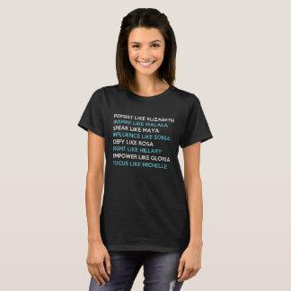 エリザベスのように主張して下さい、malalaをインスパイア、マヤを話して下さい tシャツ