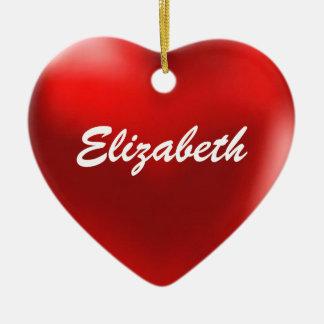 エリザベスのオーナメントのハート セラミックオーナメント