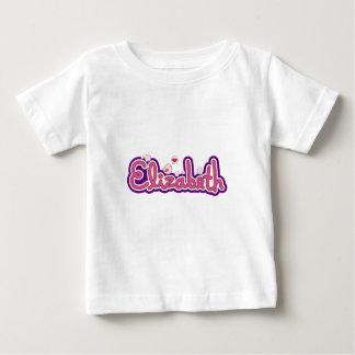 エリザベスの一流の名前入り ベビーTシャツ