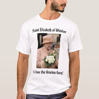 エリザベスのWindsorの神の保存の聖者エリザベス… Tシャツ