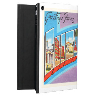 エリザベスニュージャージーNJのヴィンテージ旅行郵便はがき iPad AIRケース