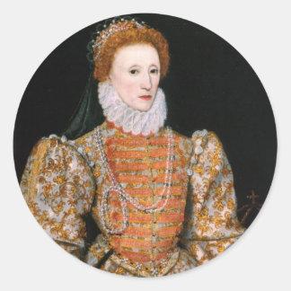 エリザベス女王のステッカー ラウンドシール