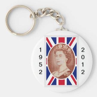 エリザベス女王の記念祭のポートレート キーホルダー