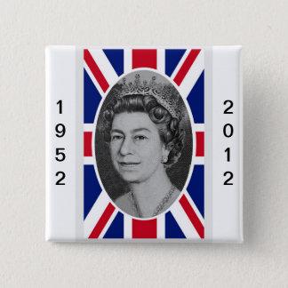 エリザベス女王の記念祭のポートレート 缶バッジ