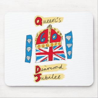 エリザベス女王の60周年記念2012年 マウスパッド