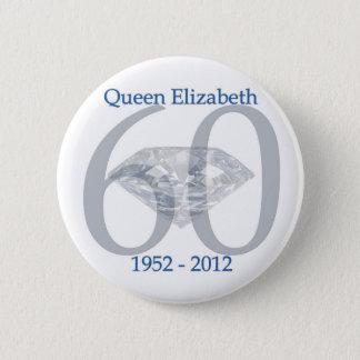 エリザベス女王の60周年記念 5.7CM 丸型バッジ