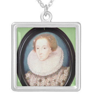 エリザベス女王一世のミニチュア シルバープレートネックレス