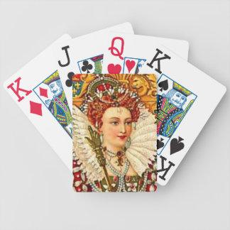 エリザベス女王一世のヴィンテージアールヌーボー バイスクルトランプ